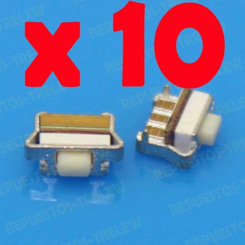 Boton X10 Unidades 4.5x1.6x3.5 Mm - Modelo 08 Tablet Celular