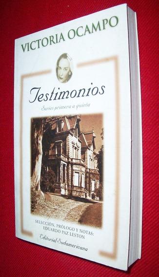 Testimonio, Serie Primera A Quinta / Victoria Ocampo ( Arg )