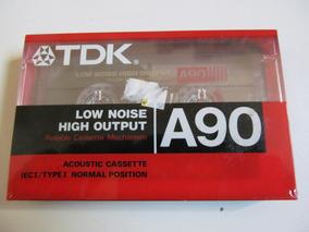 Fita K7 Tdk A90 - Importada Eua - Made In Japão - Lacrada