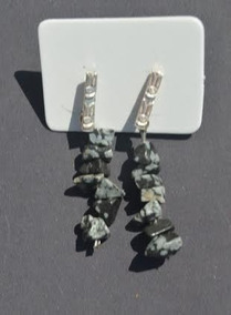 Brinco Em Pedra Obsidiana Nevada