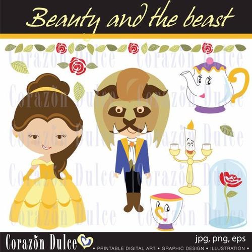 Kit Imprimible Princesa Bella Y La Bestia Imagenes Cod 5