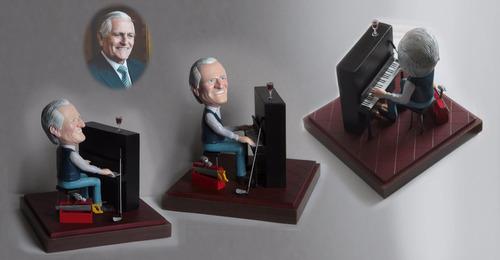 Esculturas En Miniatura, Caricatura 3d Pago Al Vendedor