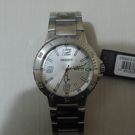 Relógio Orient Mbss2018 Masculino Elegante Visor Prata Belo