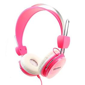 Fone De Ouvido Rosa P2 Confortável 40mm E Potência 100mw