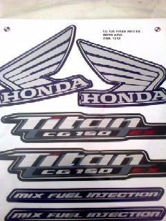 Adesivo Moto Titan 125 Ex Jogo Azul 2012 Completa