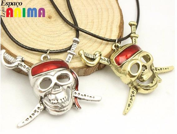 Colar Caveira Jack Sparrow Piratas Do Caribe