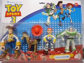 Kit Toy Stoty Com 4 Bonecos Buzz Jazz Wood Coleção