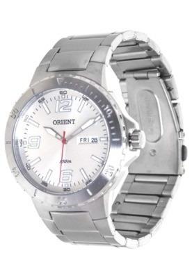 Relógio Orient Mbss2018 Original Mostrador Prata Sport