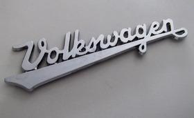 Emblema Volkswagen Manuscrito Cromado Fusca