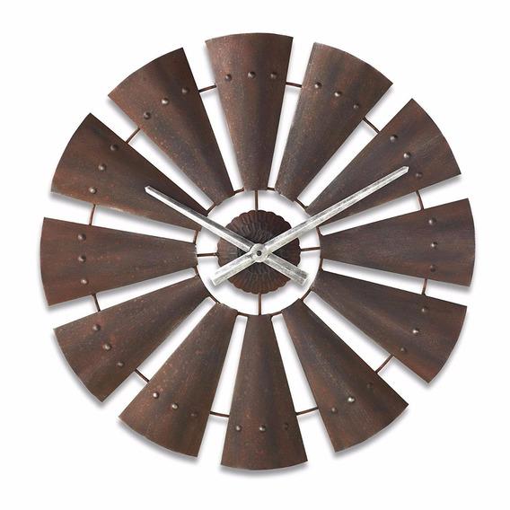 Reloj Pared Cuarzo Molino De Viento 24pulg Vintage Importado