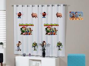 Cortina Infantil Toy Story Disney Personalizada 2,20 X 1,40