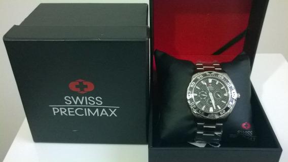 Relógio Precimax Em Aço Inox O Luxo E Caixa 48mm