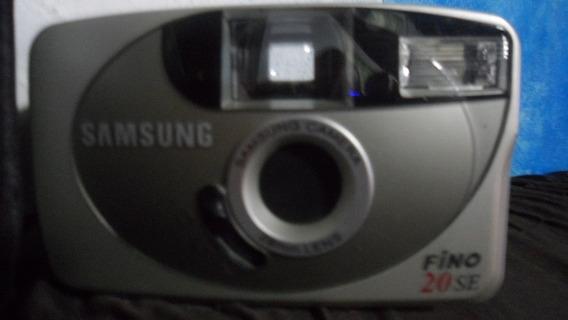 Camera Fotografica Antiga Sansung Fino 20 Se. Linda Com Capa
