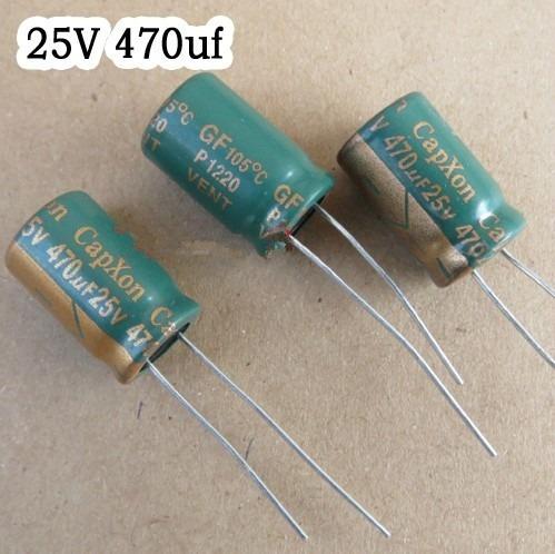 Capacitor Eletrolítico 470uf 25v 105º 10 Pçs Pronta Entrega