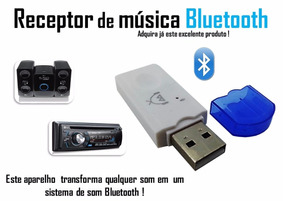 Bluetooth Usb Adaptador Som Automotivo Musica