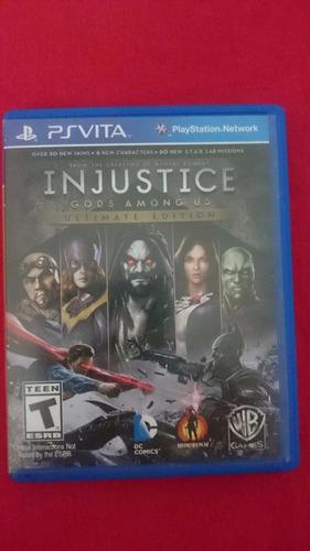 Injustice Gods Among Us Ultimate Edition Ps Vita Frete R$10