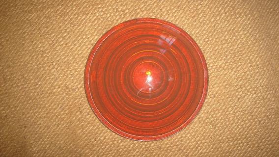 X - Antiguo Vidrio Farol Del Ferrocarril 12,7cm..