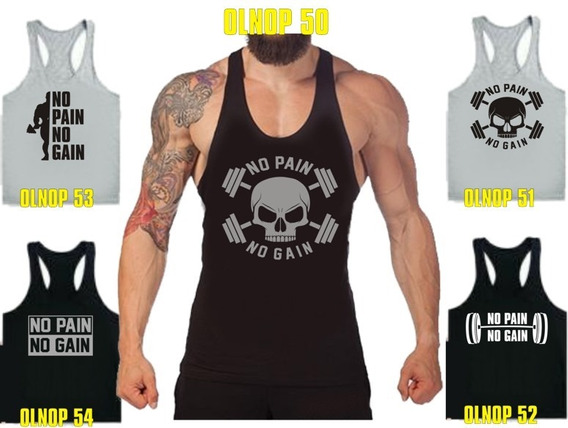 Musculosas No Pain No Gain Olimpicas Unicas A Todo El Pais!!
