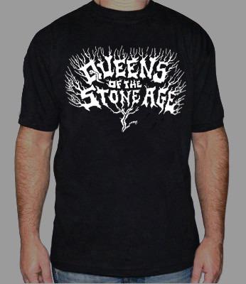Queens Of The Stone Edge Remera Estampada Con Vinilo