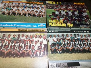 Lote Com 4 Posters Do Treze De Campina Grande Paraíba 818283