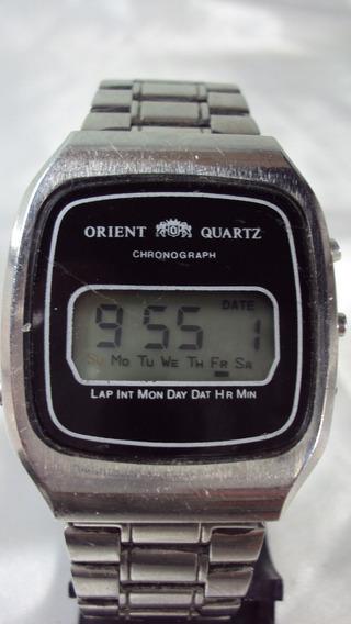 Orient Quartz Lcd Antigo Com Garantia - Relogiodovovo