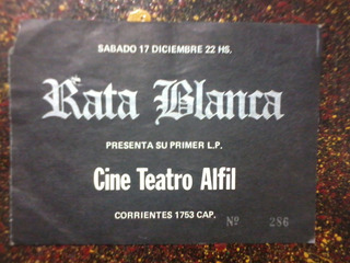 Entrada Rata Blanca Teatro Alfil