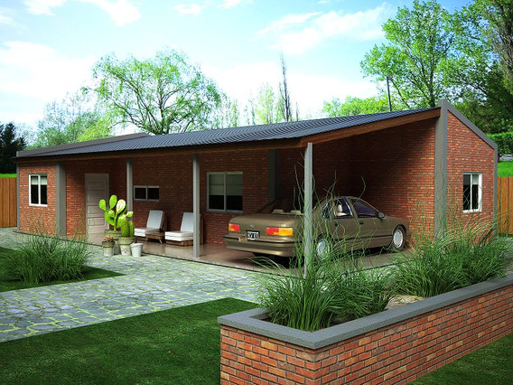 Casa Ladrillo Construcción Rápida Material Prefabricada