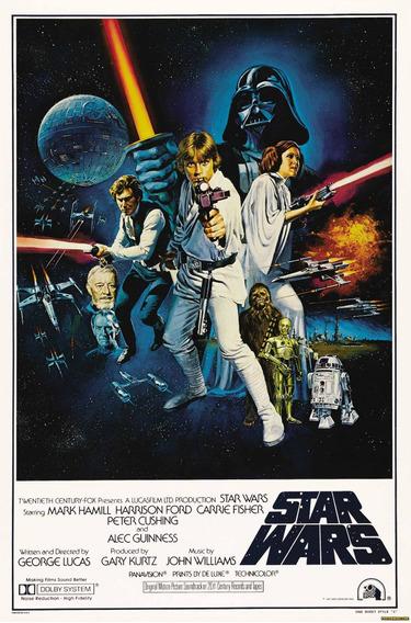 Poster Lona Vinilica - Star Wars Iv A New Hope