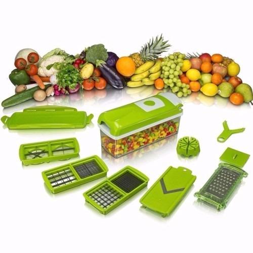 Pack 2 Picador Verduras Cortador Ensalada Fruta Postre Nicer