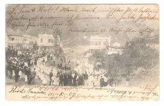 Pt01 Postal Circulado 1905 Petrópolis Alunas Do Colegio Sion