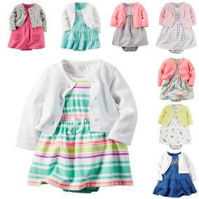 Conjunto Infantil Carters Blusa Vestido Body Menina Feminino