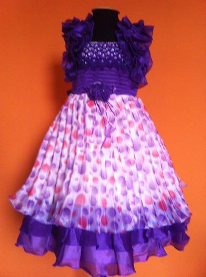 Vestido Infantil Princesa Festa Frufru Bolinhas Coloridas