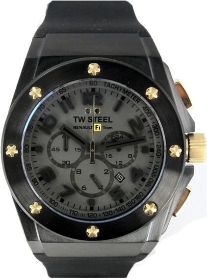 Reloj Tw Steel Ceo Rf1 Negro Tw684, Caucho, Garantia