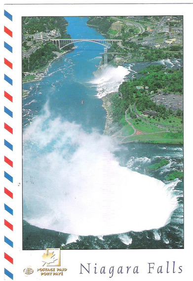 Tarjeta Postal Circulada Canada Niagara Falls Cataratas Niag