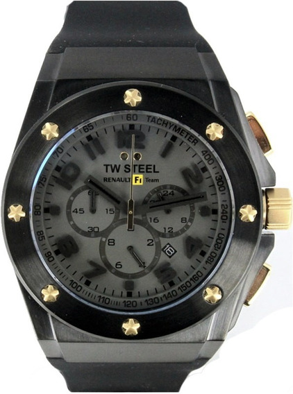 Reloj Tw Steel Ceo Rf1 Negro Tw683, Caucho, Garantia