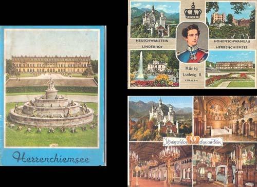 Livro Castelo Alemão Herrenchiemsee + 2 Cartões Postais Raro