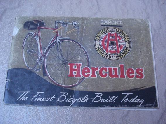 Catálogo Antigo Bicicletas Hercules Ano 1950 Colorido Raro