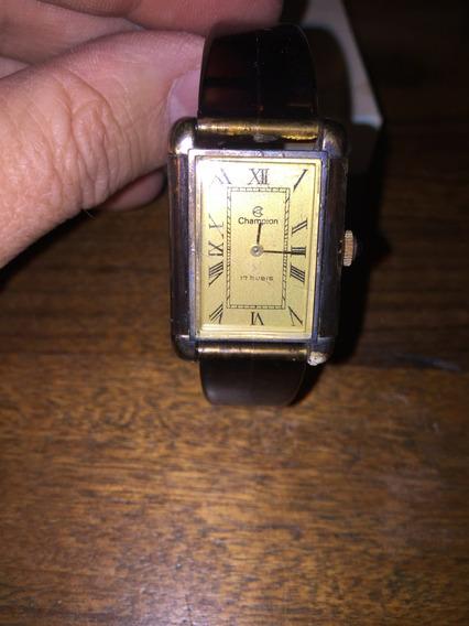Relógio Champion Antigo Anos 1980 Com Caixa E Garantia