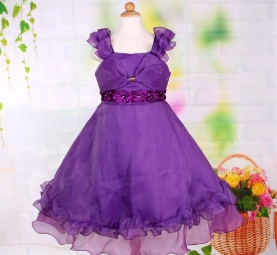 Vestido Infantil Festa Florista Fita E Cristais