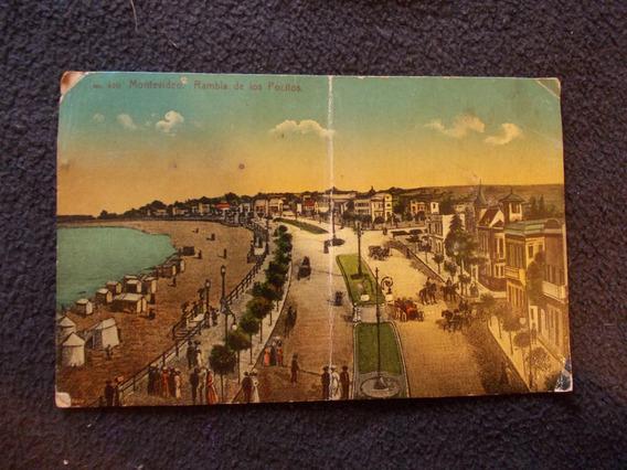 503-postal Uruguay, Rambla De Los Pocitos Estamp.1centimo