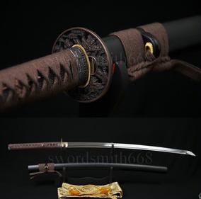 Espada Katana Para Corte Tameshigiri Afiada Aço Dobrado