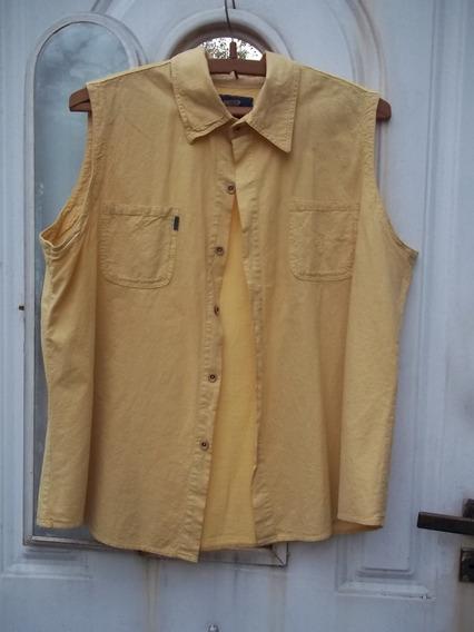 Camisa De Lienzo Color Ocre Talle 5 Como Nueva M Pago