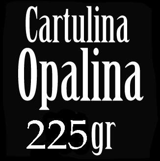 Imagen 1 de 2 de Cartulina Opalina 225 Gr. Lisa Extra Blanca Oficio 100 Hojas