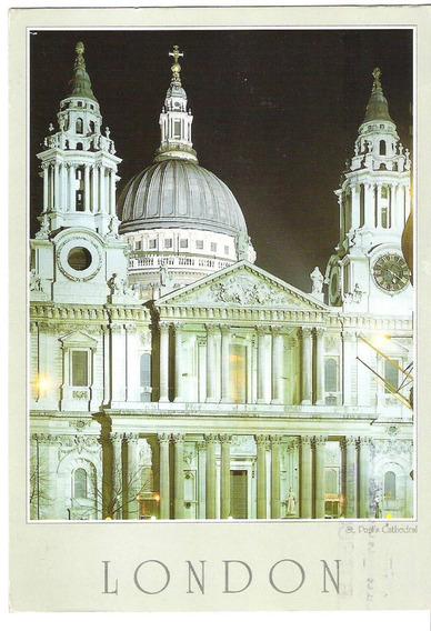 Postal Circulada Inglaterra London St Paul Cathedral