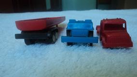 Lote De 2 Sucatas De Caminhões Big Frota E 1 Reboque