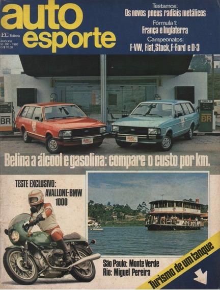 Auto Esporte Nº190 Ford Belina Ventura Avallone Bmw 1000
