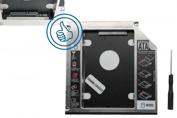 Caddy Adaptador Dvd Sata 12.7mm Segundo Disco Duro