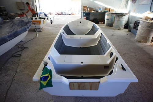 Imagem 1 de 14 de Barco Bote Fibra 4.60 Borda Alta 40 Anos Artsol Fabrica