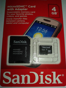 Cartão Microsdhc Sandisk 4 Gb Classe 4