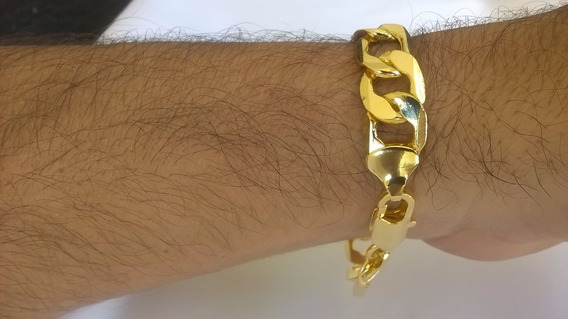 Pulseira Masculina Banhada A Ouro 18k